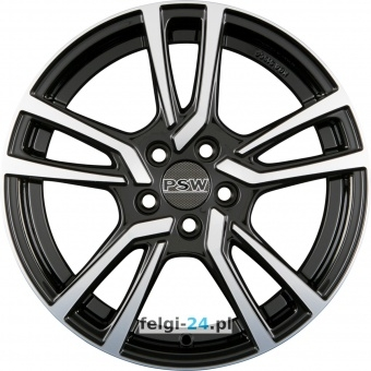 PSW Powerful Wheels NEVADA Gloss Black Polished Einteilig